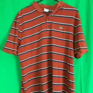Red striped Lacoste size 6
